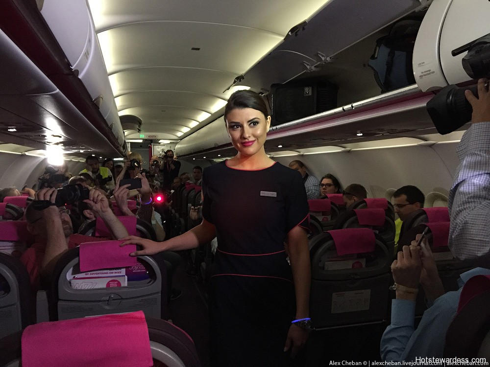 Wizz Air Stewardesses Hot Stewardess